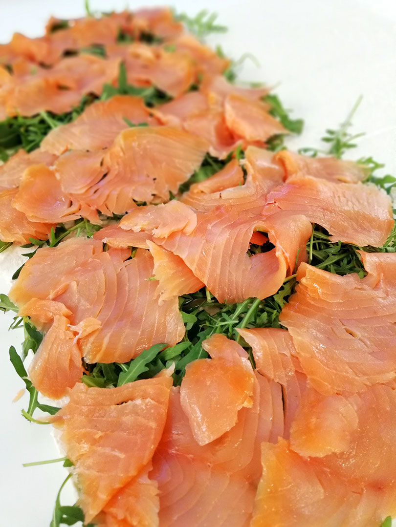 Catering Rucola Lachs