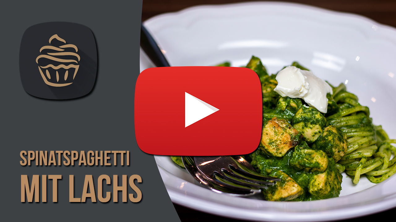 YouTube Spinatspaghetti mit Lachs